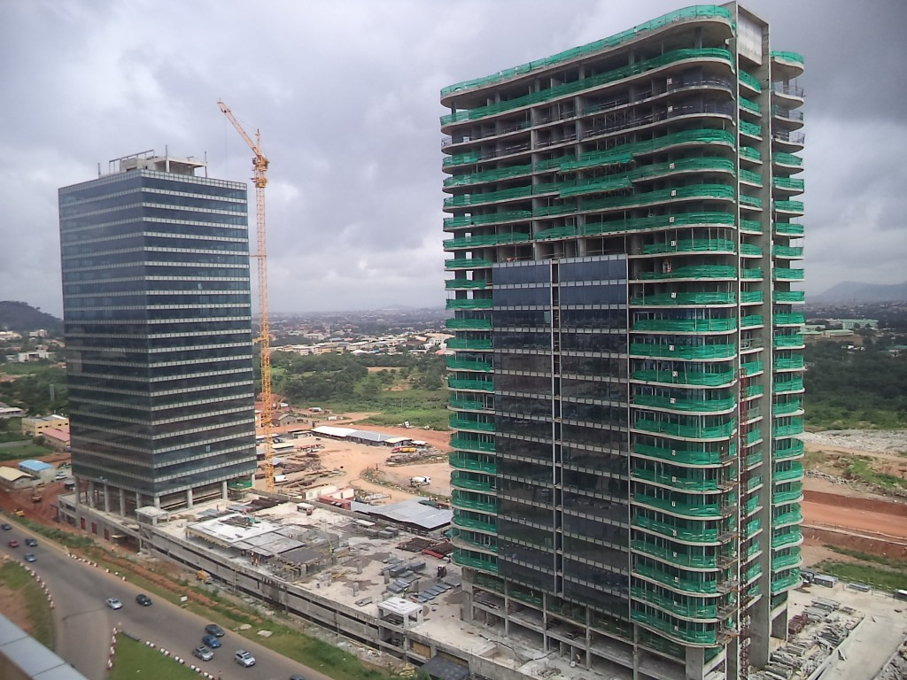 FLY BY THE ABUJA WORLD TRADE CENTER THROUGH EYES OF A