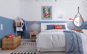 blue feminine room