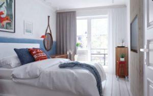 feminine apartment room design