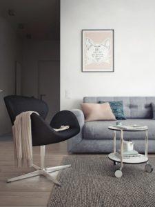 modern swan chair
