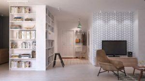 open book shelves