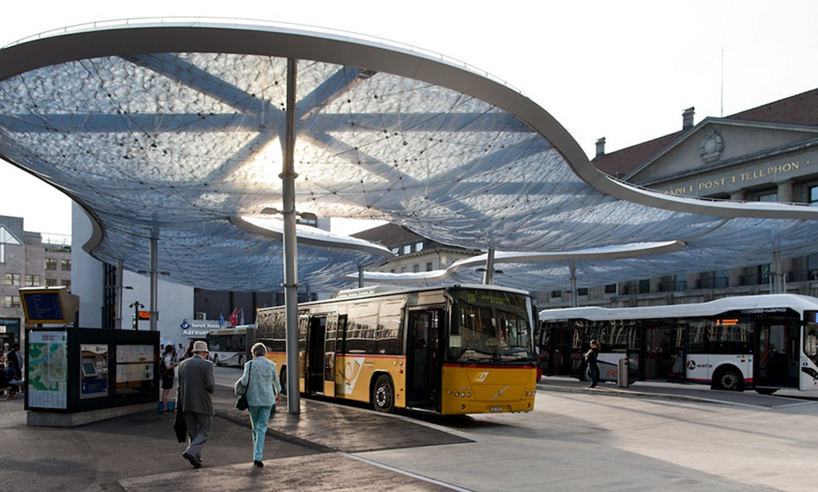 vehovar & jauslin and formTL inflate aarau bus station canopy