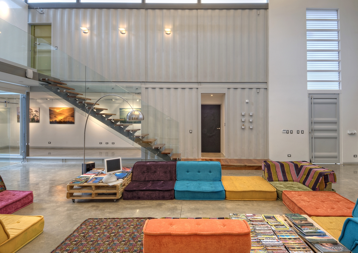 Open and airy casa incubo shipping container home by maria jose
