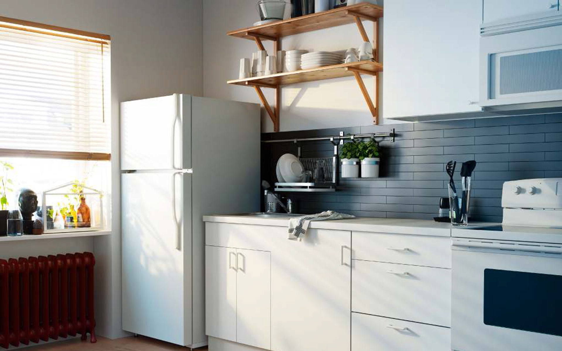 Inspirations Modern Kitchen Storage For Your Ideas Decorations Kitchen Decorations Exciting Wooden Floating Shelves As Glass Storage At White Wall Kitchen Painted
