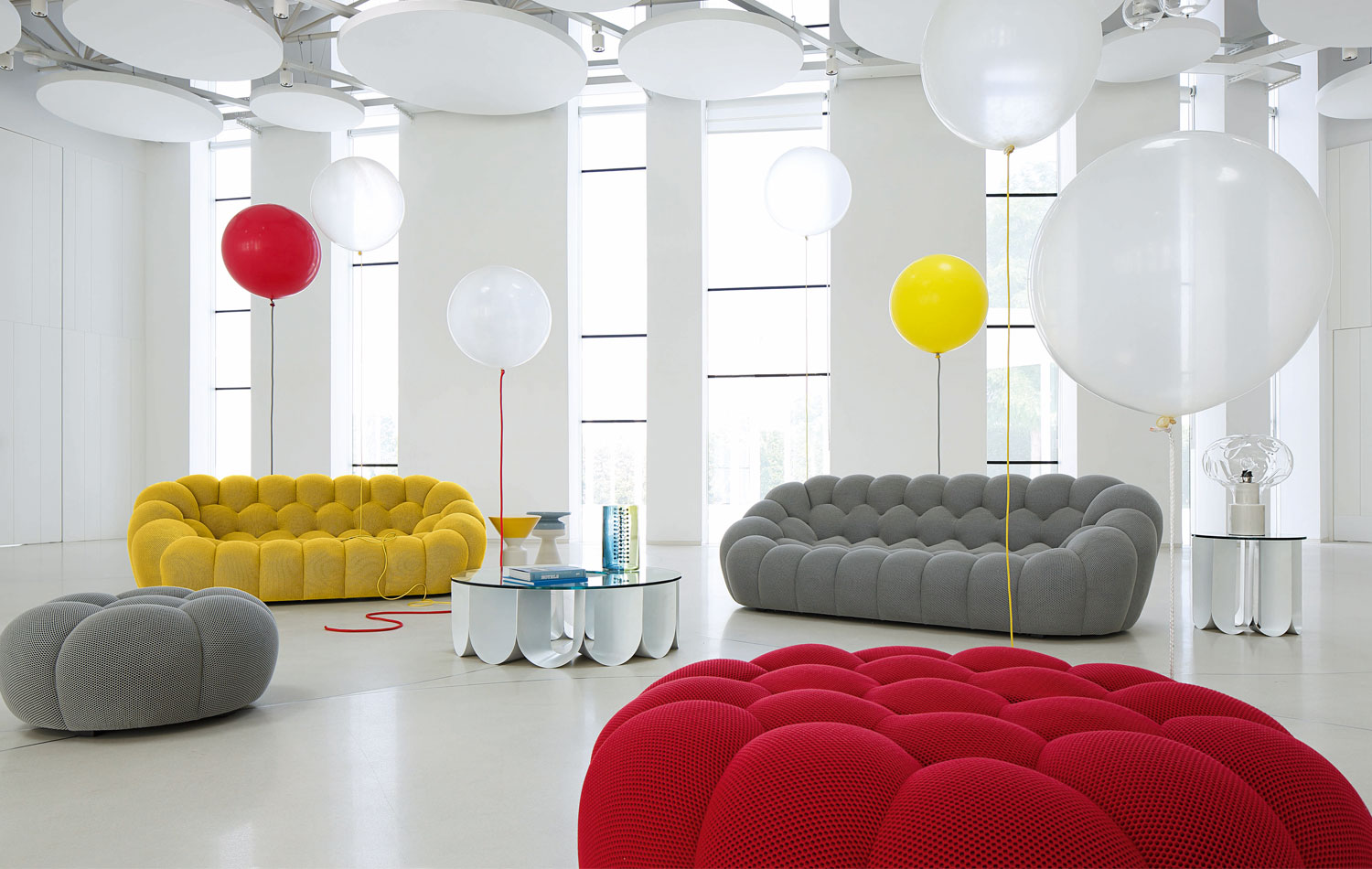 comfy the bubble sofa designed by sasha lakic for roche bobois livin spaces