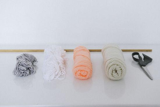 DIY Fix Your Blank Wall With A DIY Tassle Wall Hanger