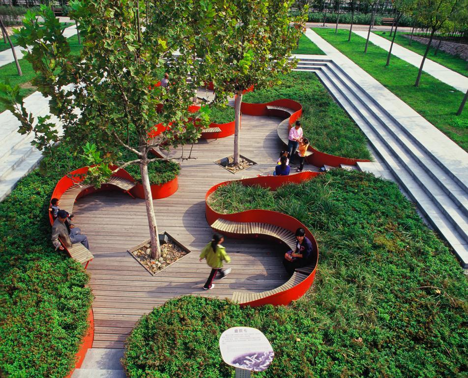 Linked To Nature Tianjin Bridged Gardens By Turenscape Design Institute Livin Spaces