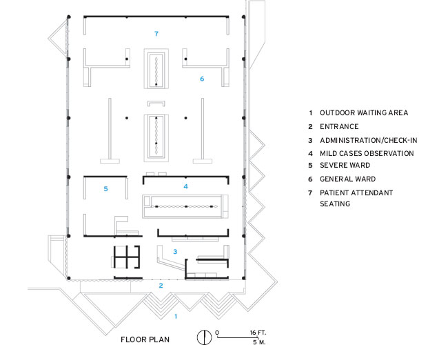 Gheskio Cholera Treatment Center floor plan 1