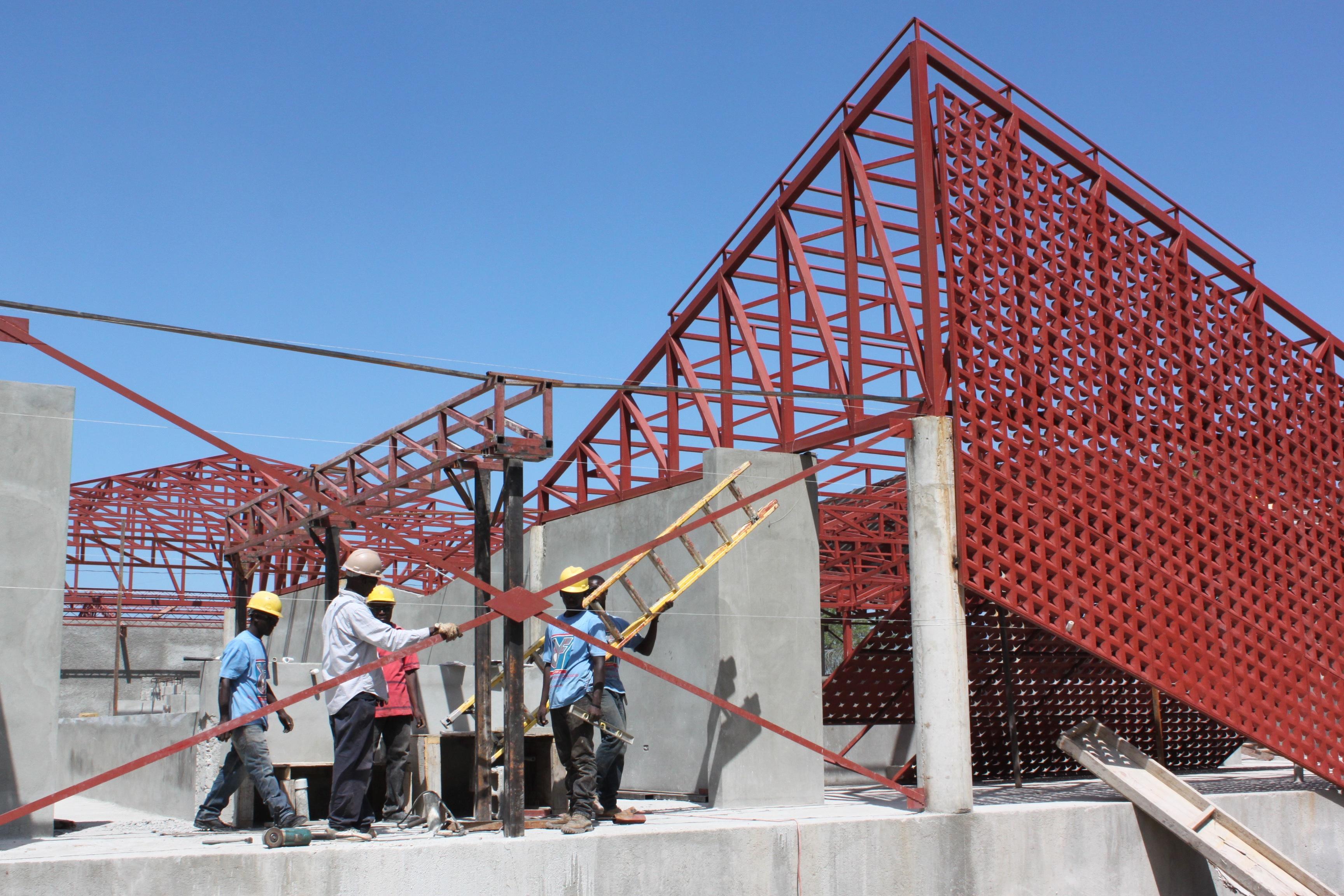 Gheskio Cholera Treatment Center construction 4