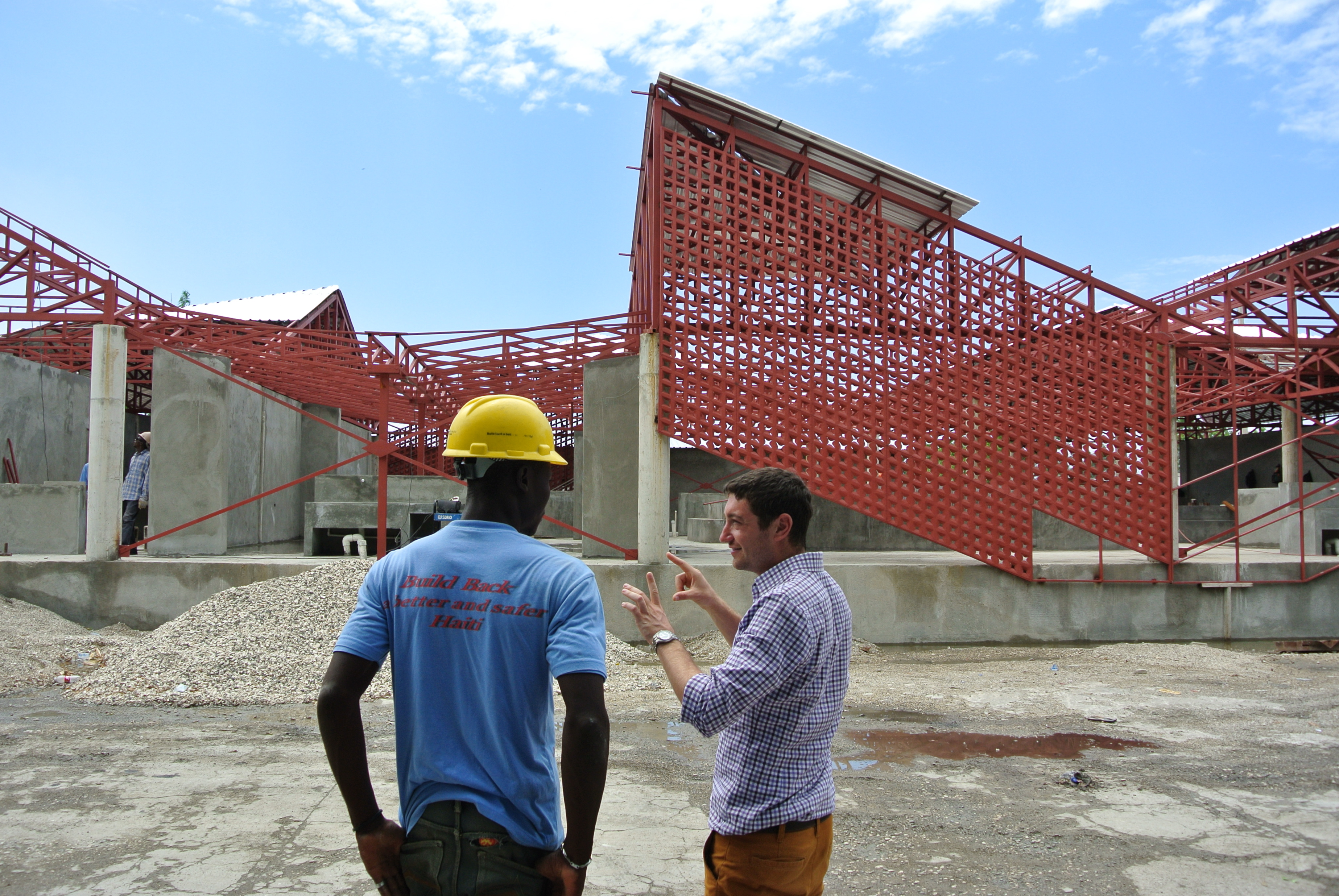 Gheskio Cholera Treatment Center construction 3