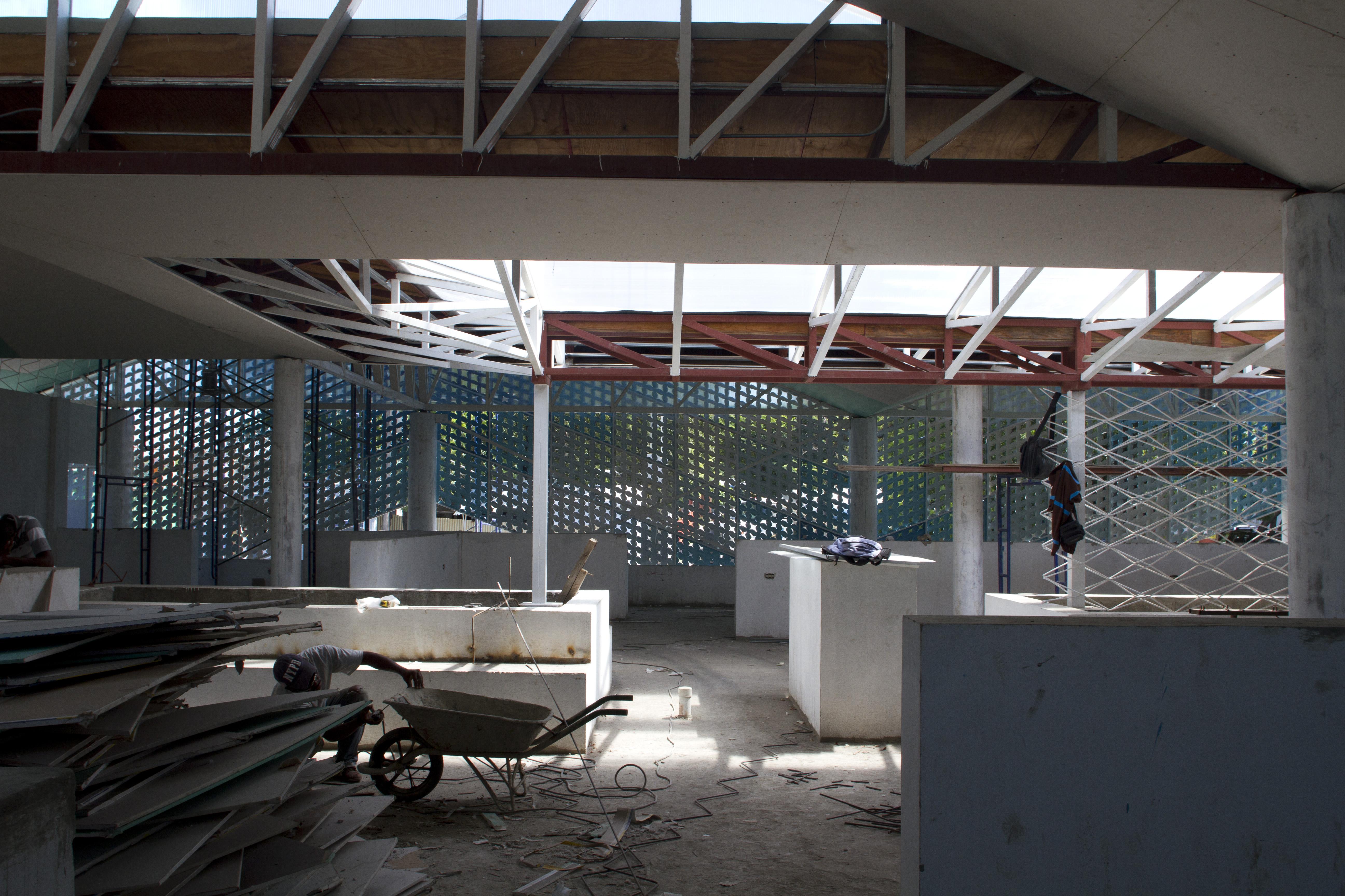 Gheskio Cholera Treatment Center construction 5