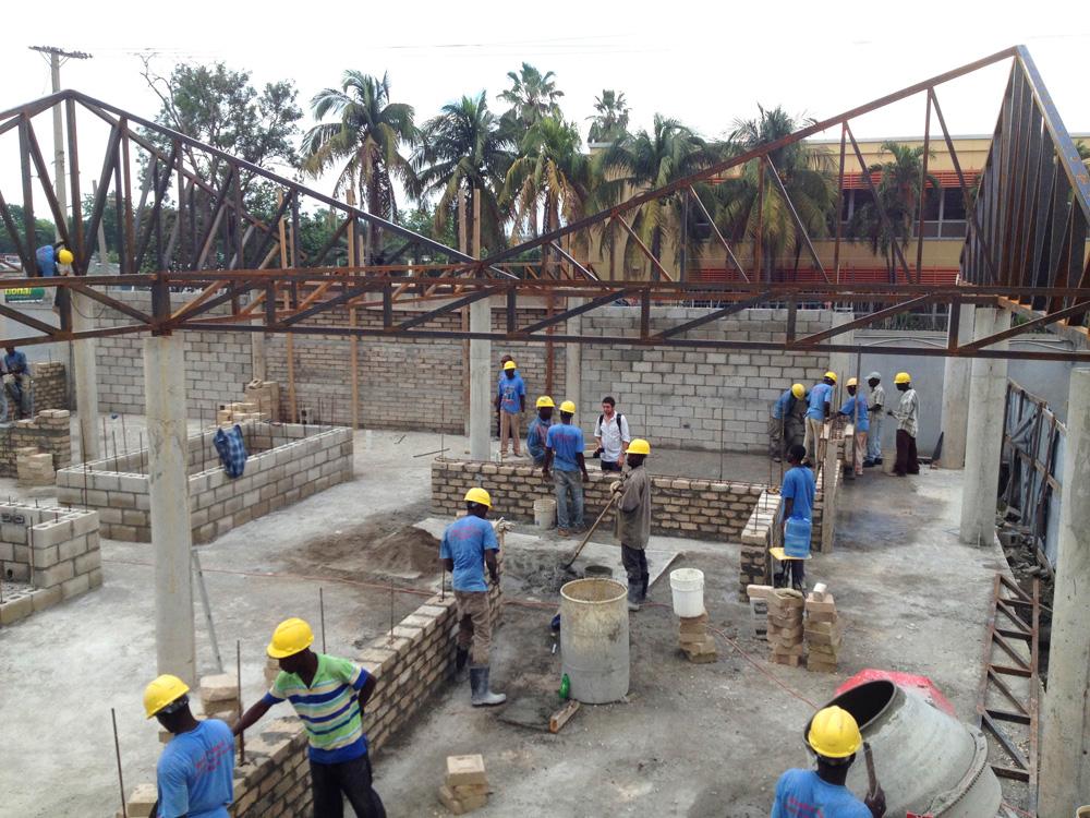 Gheskio Cholera Treatment Center construction