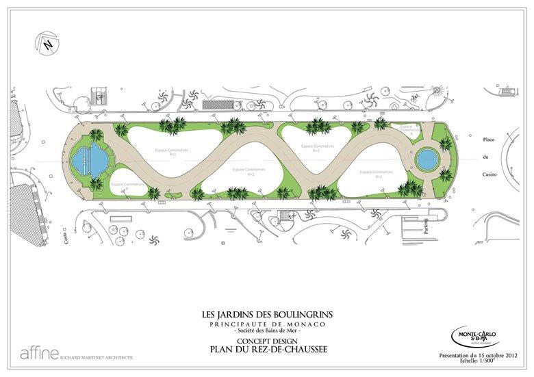floor plan for Monte Carlo Pavillions