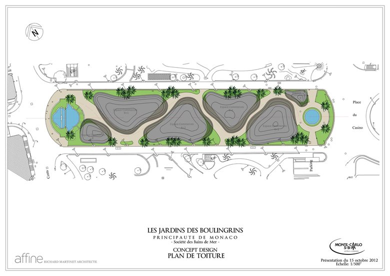 roof plan for Monte Carlo Pavillions