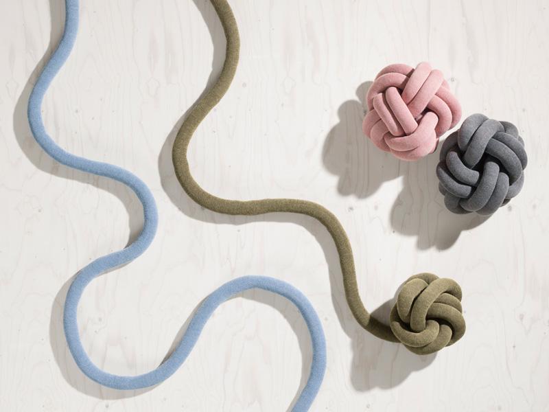knot cushions by Ragnheiður Ösp Sigurðardóttir