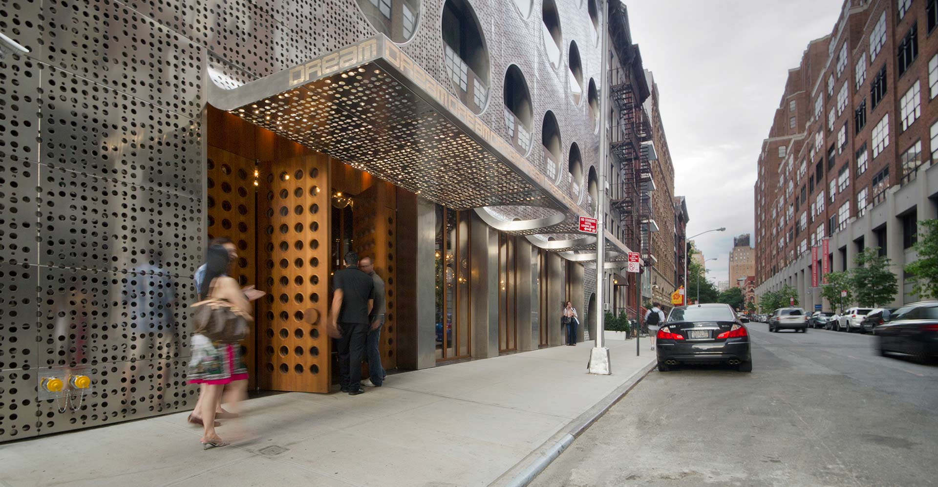Vice Versa Nyc >> METALLIC CIRCLES: THE DREAM DOWNTOWN HOTEL IN NEW YORK BY HANDEL ARCHITECTS | livin spaces
