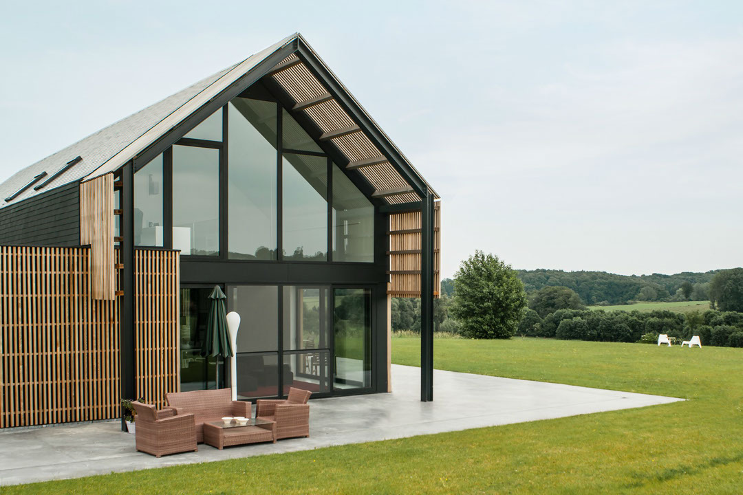 A drastic renovation turns an old barn into a lovely for Renovating a barn into a house