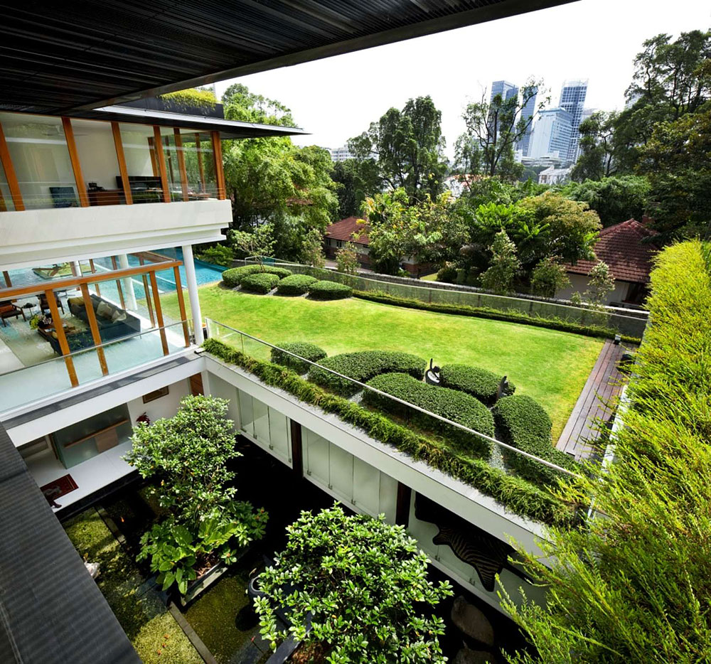 The tropical dalvey road house in singapore by guz for Amenagement jardin 3d