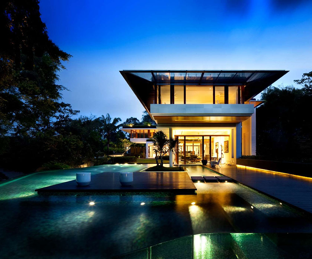 The tropical dalvey road house in singapore by guz for Pool design architecture