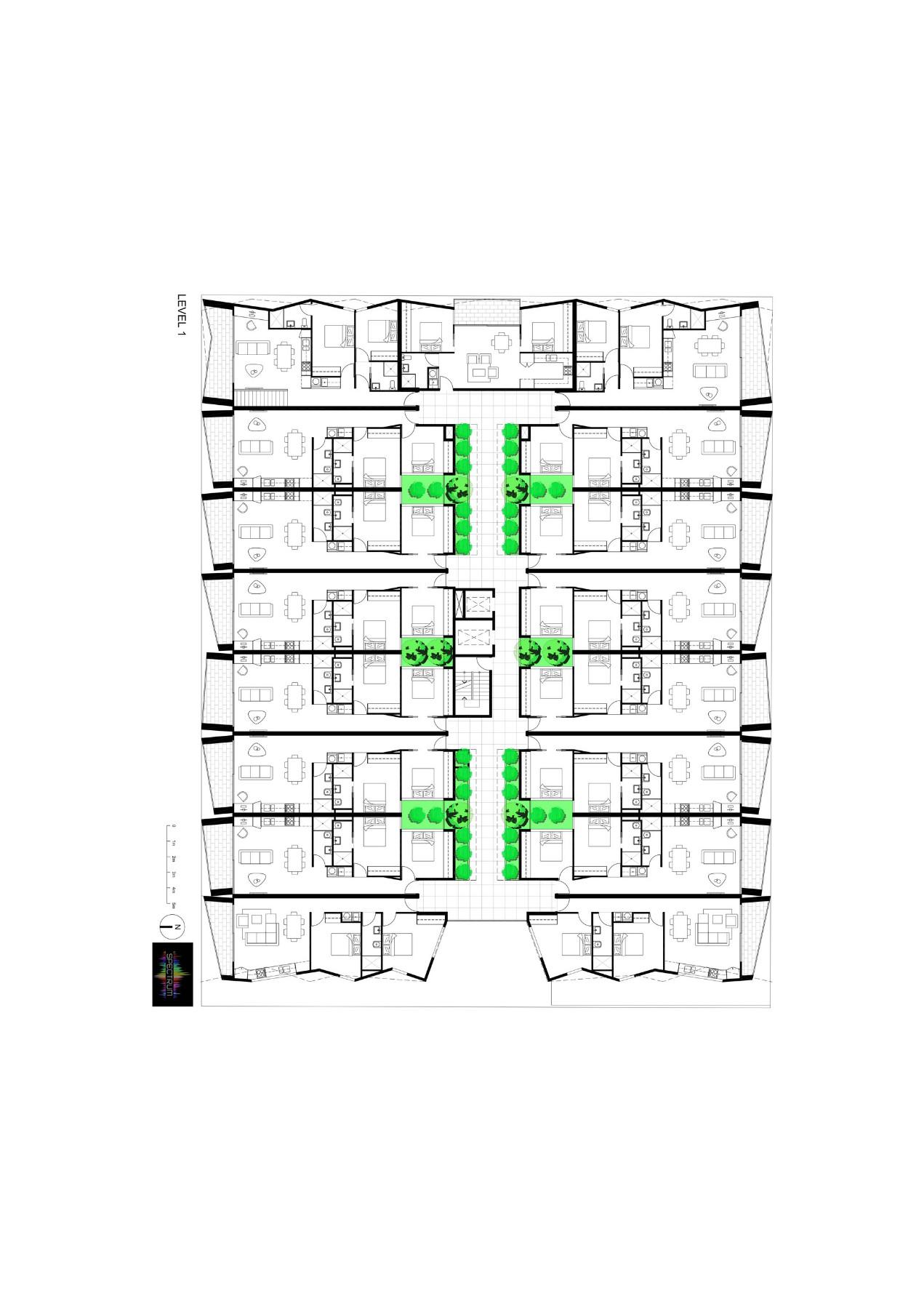 Spectrum Apartments floor plans