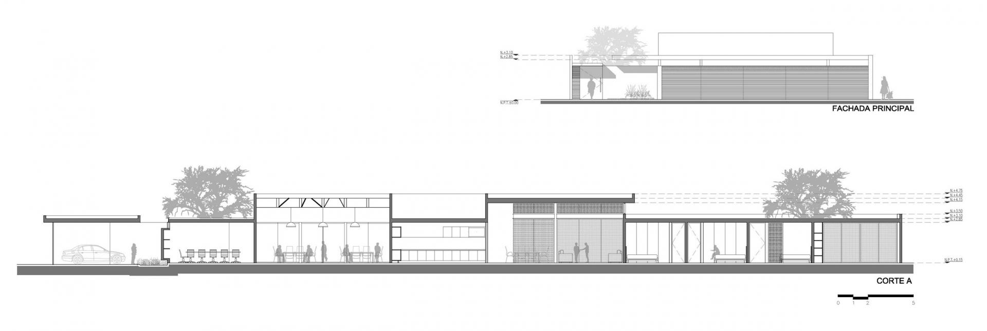 TCH HOUSE SECTION ELEVATION