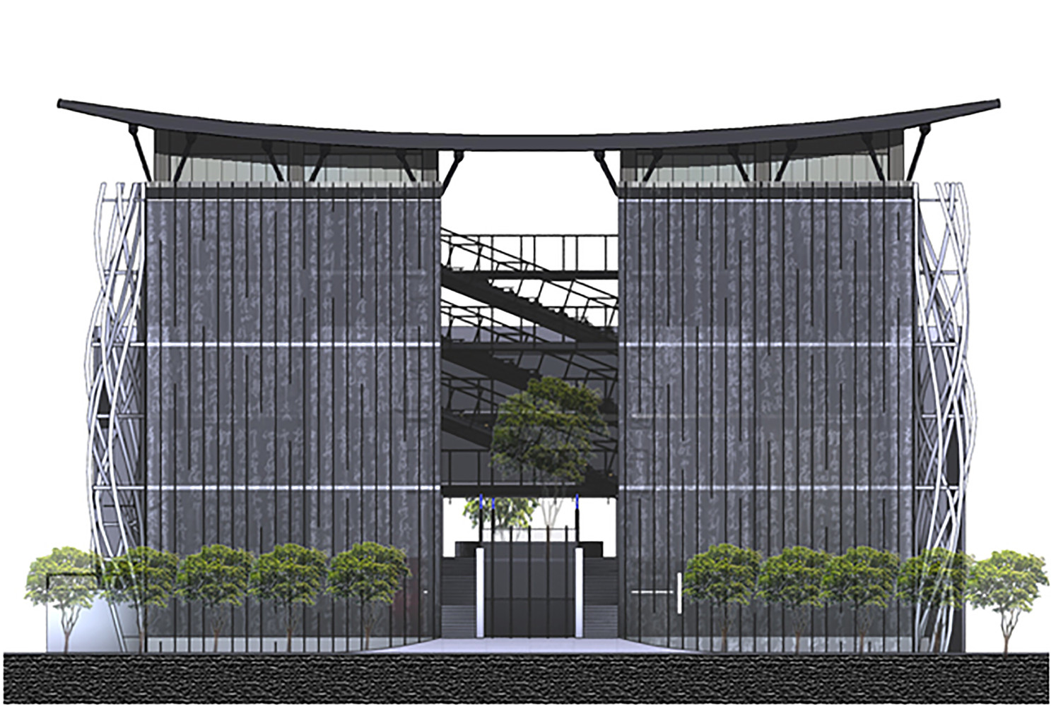 Taipei univeristy library elevation 02