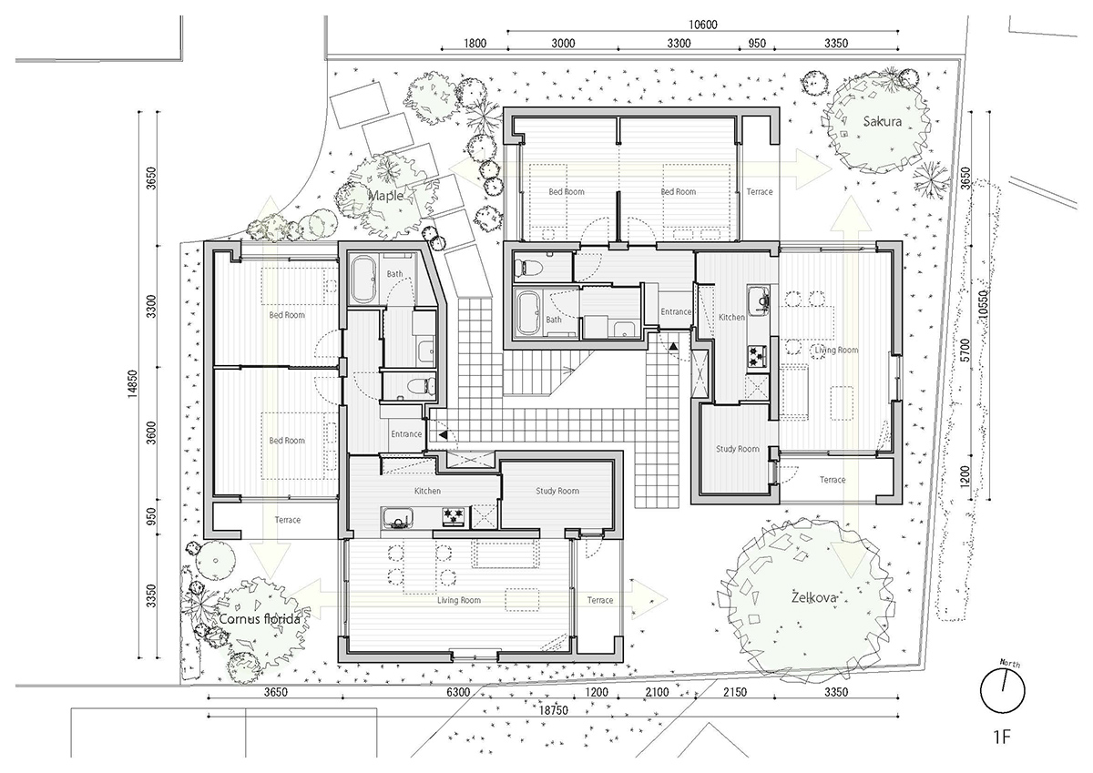 fukuoka apartment complex plan 2