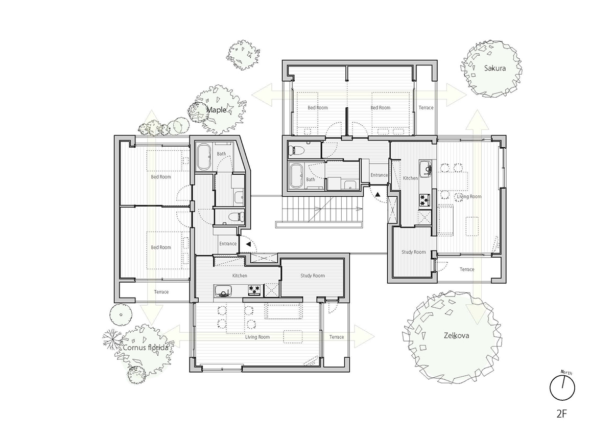 fukuoka apartment complex plan 3