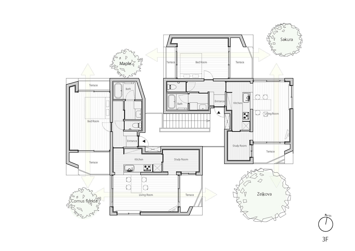 fukuoka apartment complex plan 4