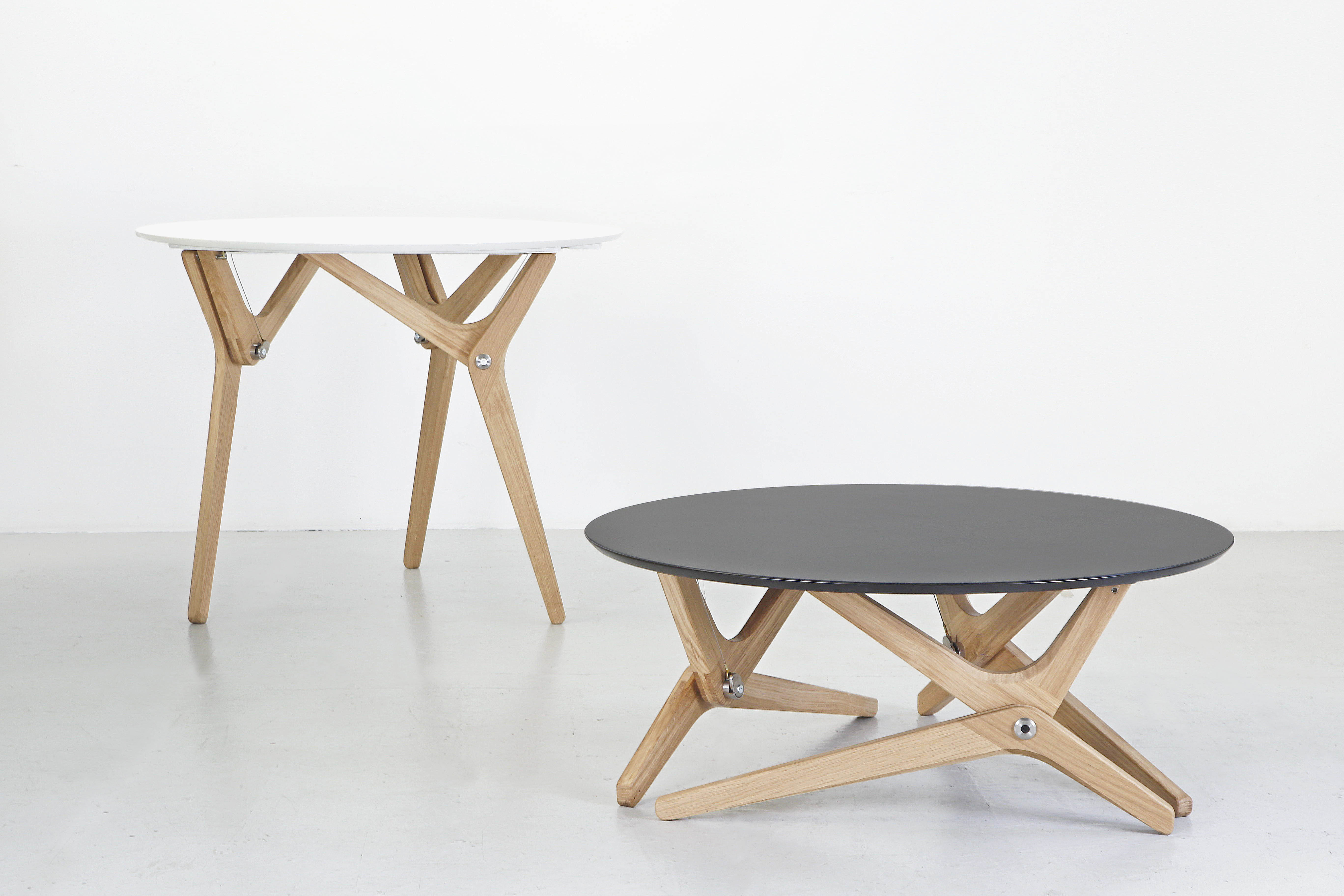 Boulon blanc reinvents the transformable table livin spaces for New table design photos