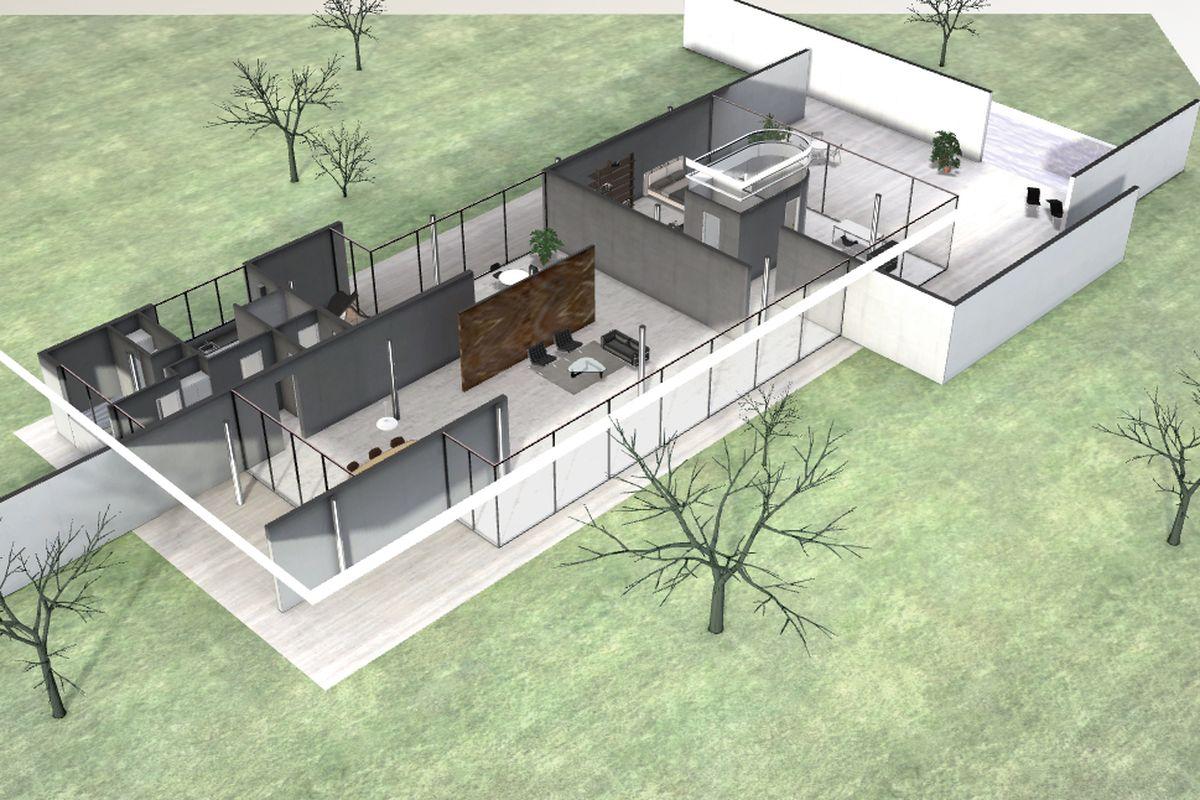Walkthrough a virtual tour of mies van der rohe 39 s berlin for House plans with virtual walk through