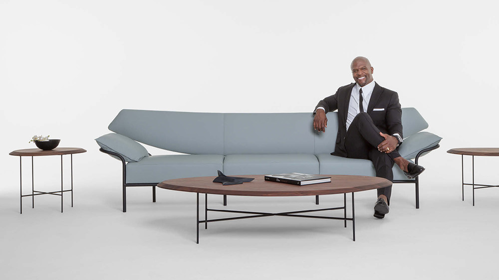 terry crews in collaboration bernhardt design launches the