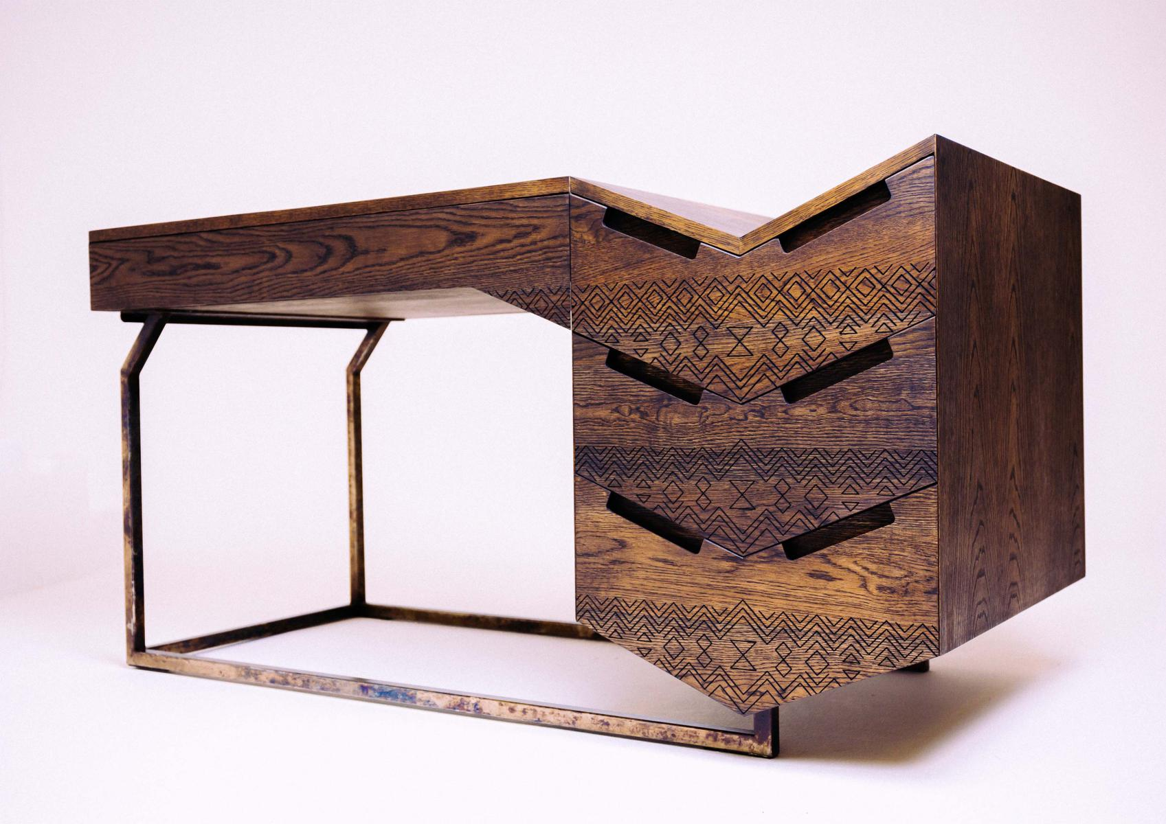 The mvelo desk by pinda is a great example of african for African american furniture designers