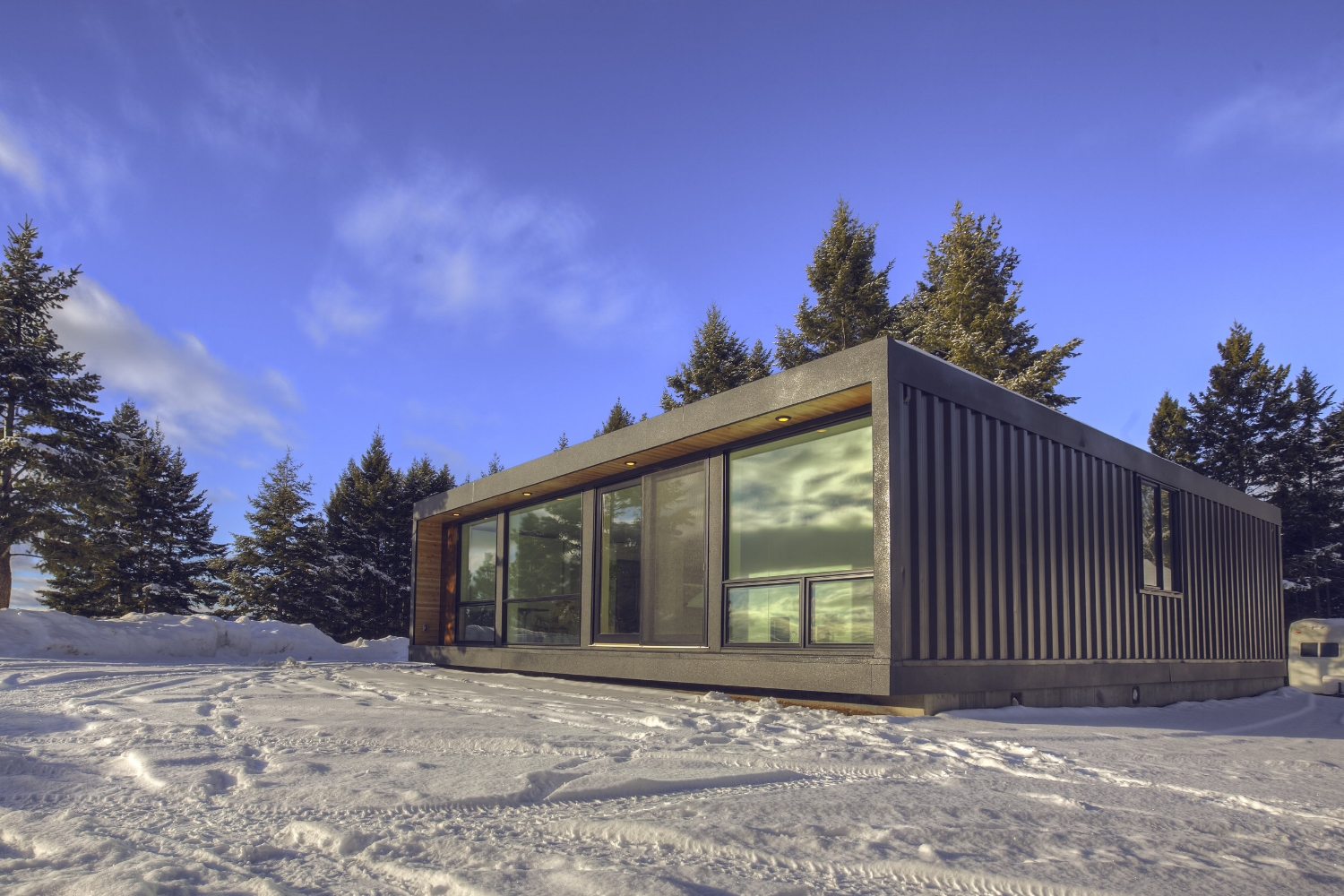 Modern Shipping Container Home watch the honomobo modern shipping container home get installed