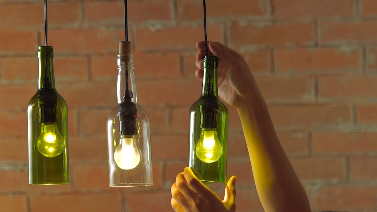 Diy how to make wine bottle pendant lights livin spaces - Wine bottle pendant light ...