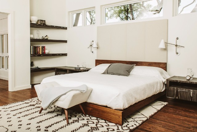 Clean Cut Mid Century Bed Minimalist Indistrual Design Master Bedroom Ideas Bedroom Inspirations Livin Spaces