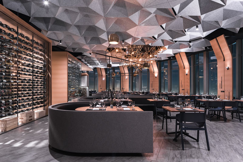 The above restaurant in california by tag front architects