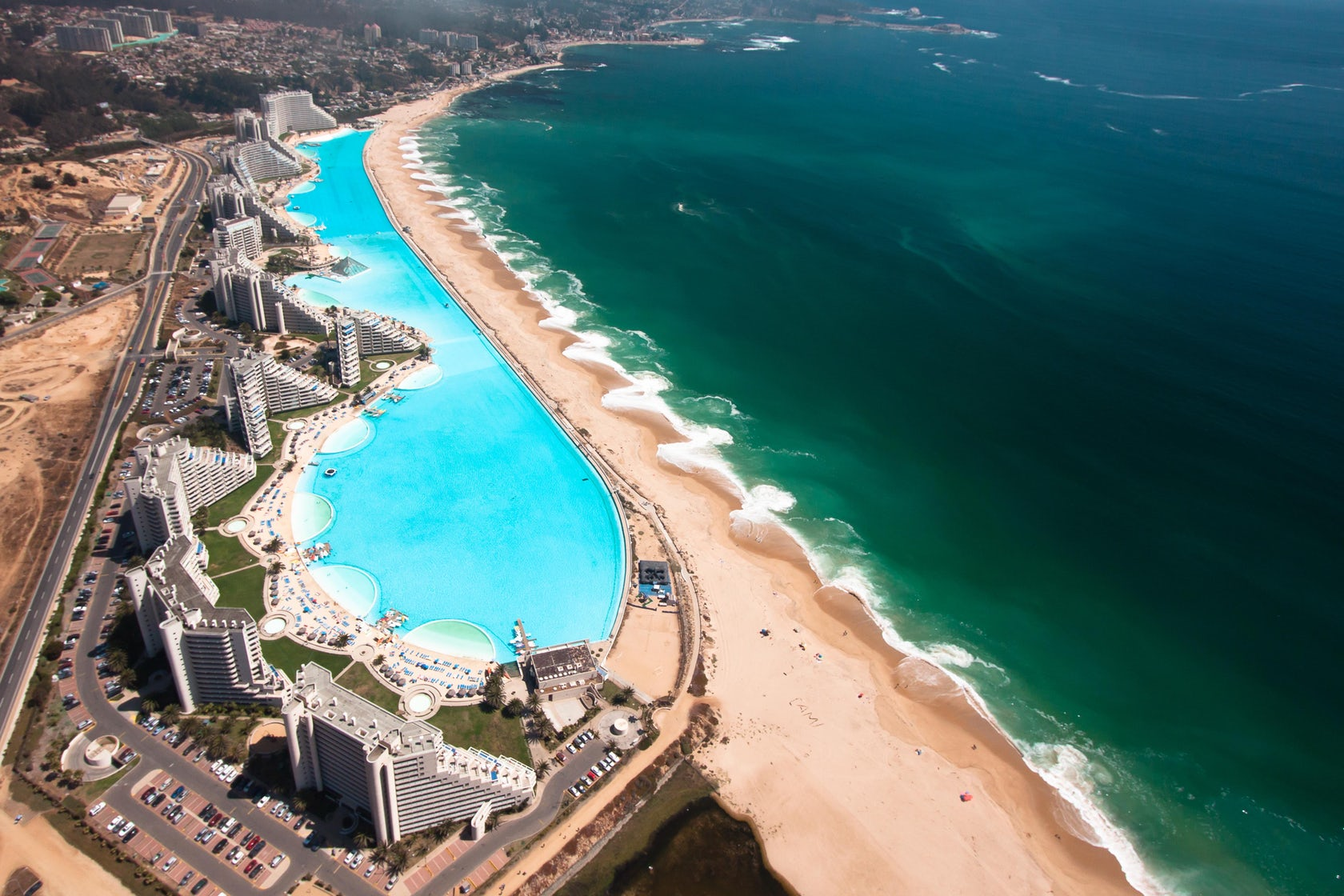 Largest Pool In Chile >> The San Alfonso Del Mar Beach Resort In Chile Is Home To The