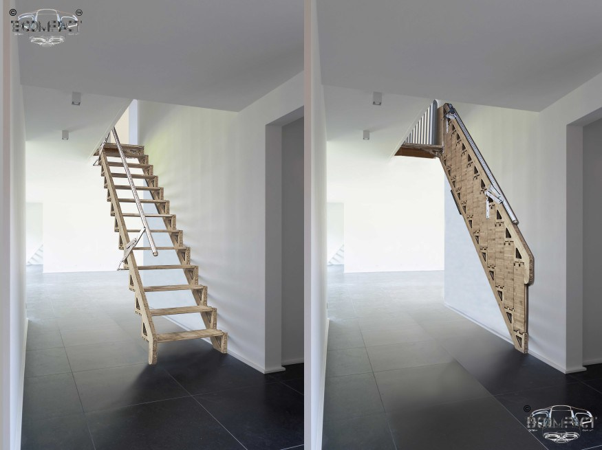 Hybrid Stairs By Bcompact Are An Innovative Fold Away