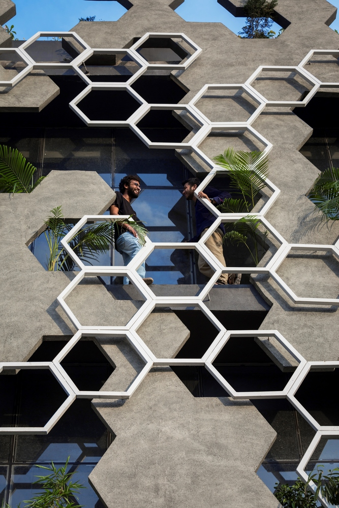 Hexalace Office Building By Studio Ardete Features A