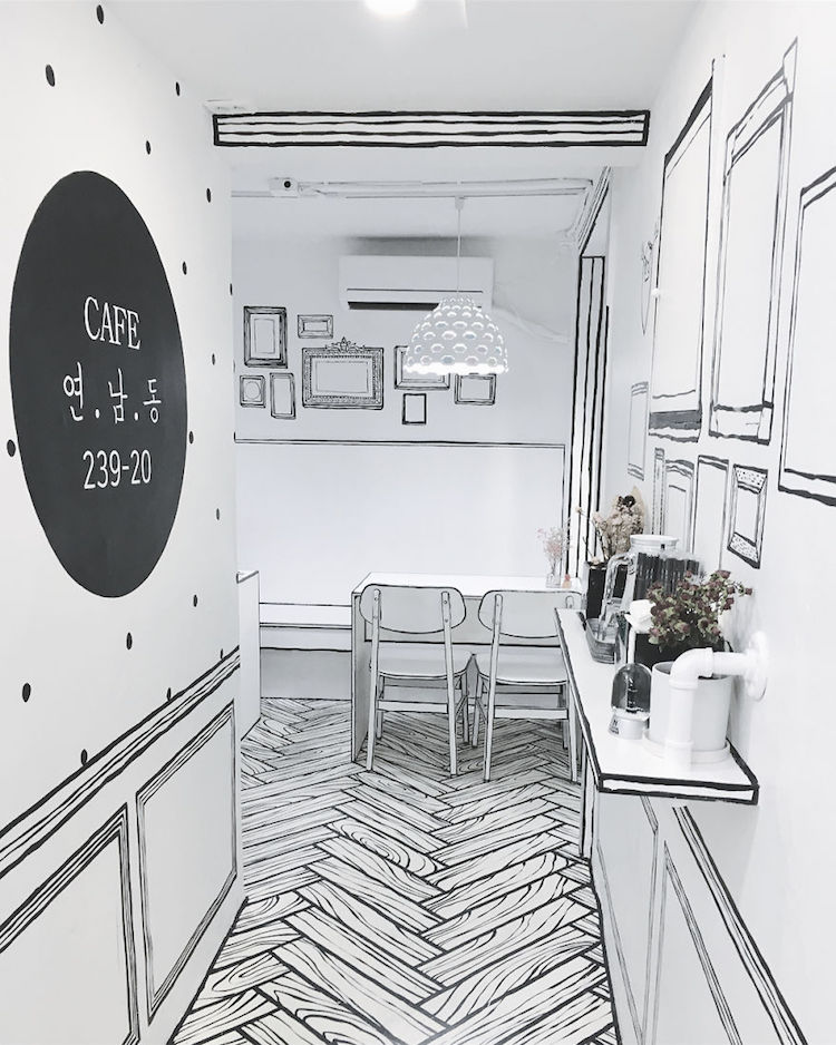 Cafe Yeonnam-dong 239-20 in South Korea uses 2D Optical ...