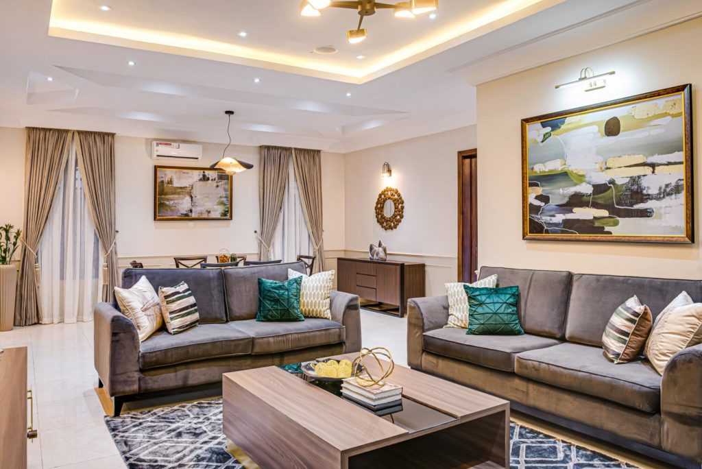 A well furnished home in Lagos by Kay Elan Design.